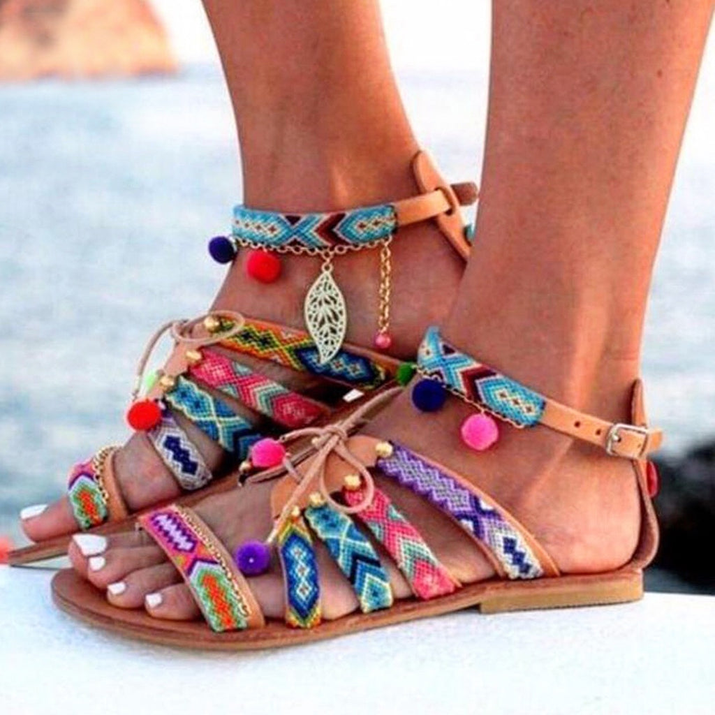 Gaelle - The Bohemian Multicolor Sandal