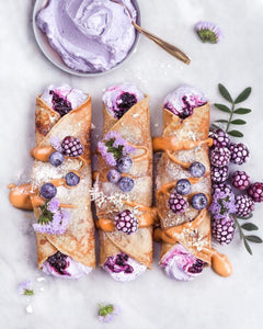 Vegan & GF Vanilla Dream Crepes w/ Berry Coconut Cream filling by vanelja {IG}