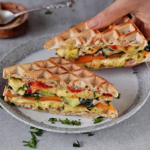 Vegan Grilled Cheese Waffle Sandwiches!