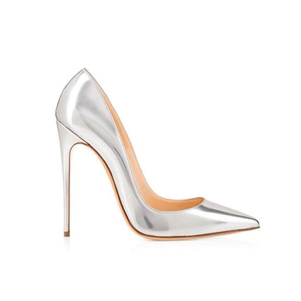 Carrie - The timeless stiletto heel 🔸 Silver