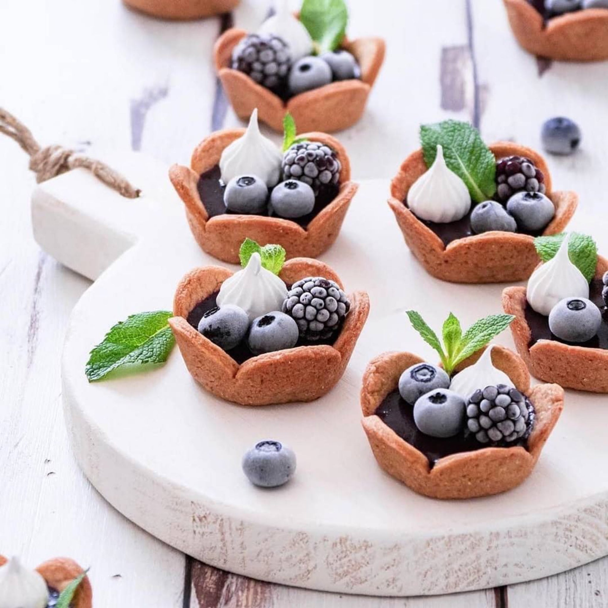 Breakfast Cups Filled With Dark Berry Compote