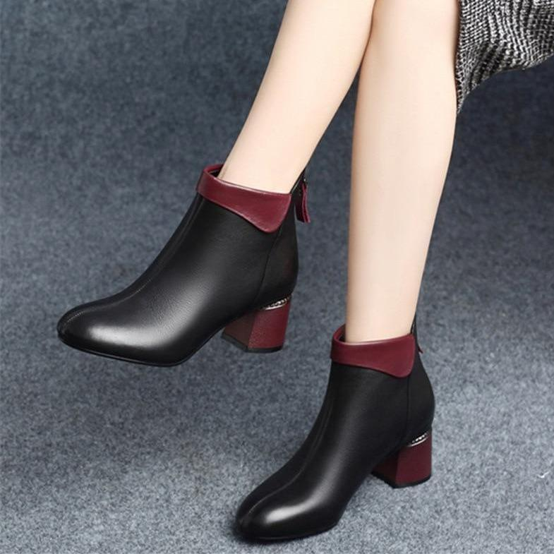 How to style a block heel bootie?