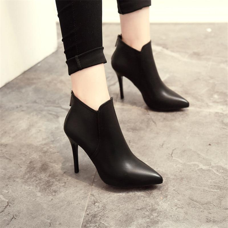 How to style a pointed toe ankle boot?