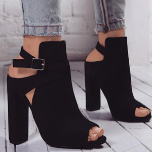 How to style an open toe ankle boot?