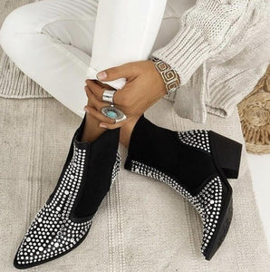 How to style a studded ankle boot?