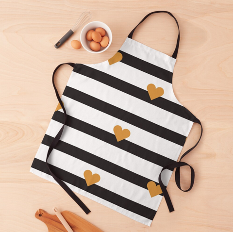 Hearts And Stripes Apron