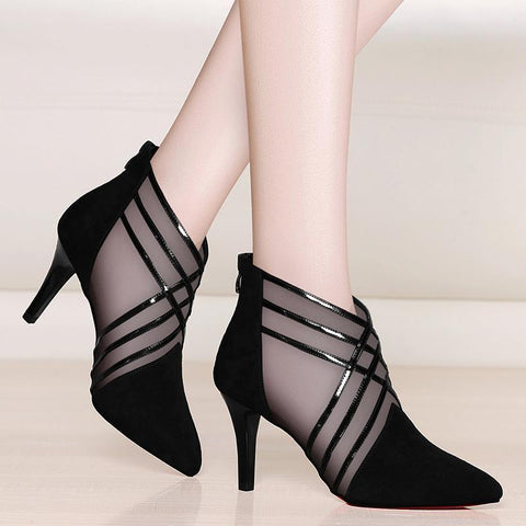 How to style the transparent ankle boot?