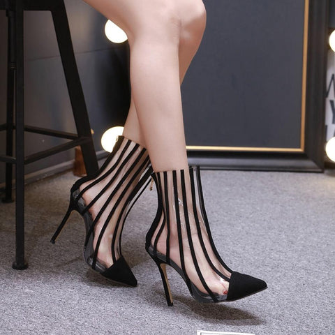 PVC Pointed Toe Vegan Ankle Bootie Izzabel