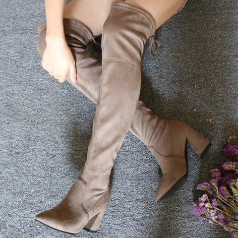 Over the knee boot - vegan izzabel