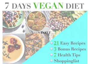 PART 1 - 7 Days Vegan Recipe Pack, Simple Recipes, Easy Recipes, Breakfast Lunch & Dinner, Printable Recipes, Digital Download