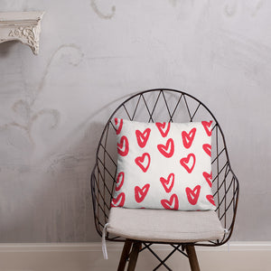 Hearts And Hearts And Hearts - Basic Pillow