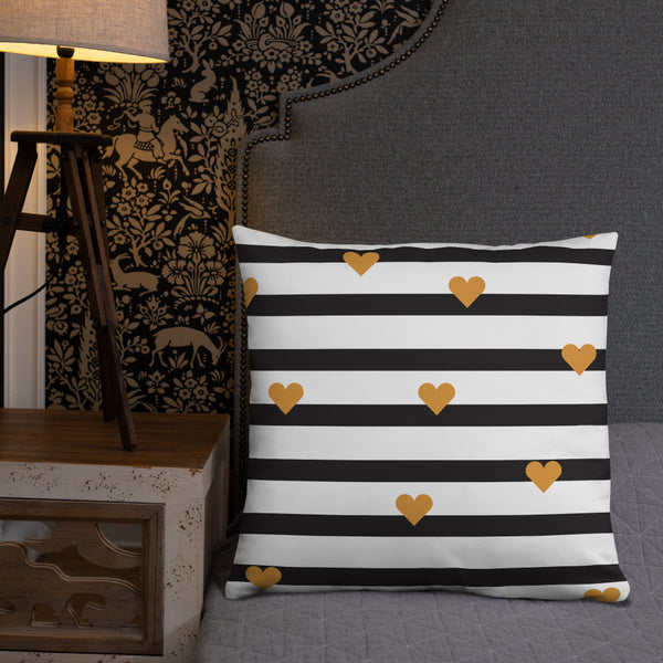 Hearts & Stripes - Basic Pillow