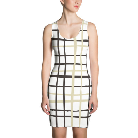 Nottingham - Checkered Sleeveless Jersey Dress