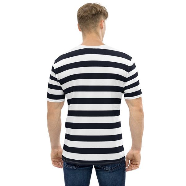 Lake Como - Black Stripes Short Sleeves Men's T-shirt