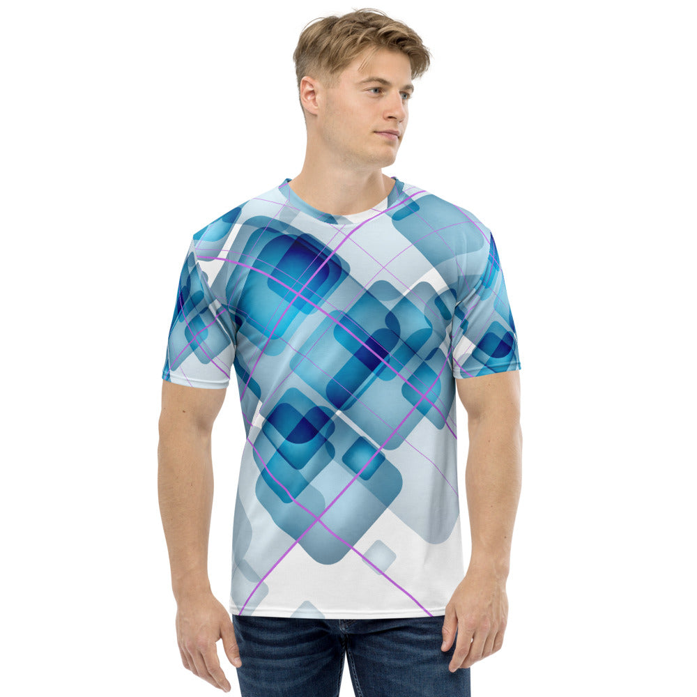Wizard - Blue Print Short Sleeve Men's T-shirt