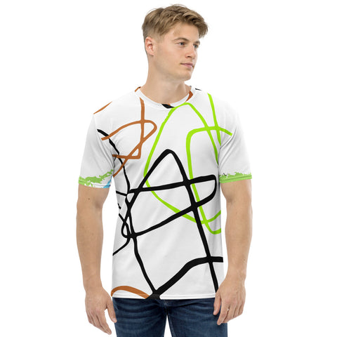 Micasso - Fluorescent Print Short Sleeves Men's T-shirt