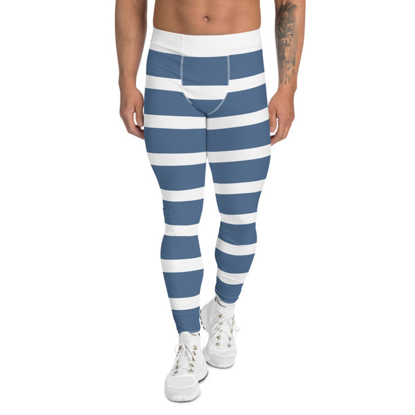 White & Blue Men's Leggings