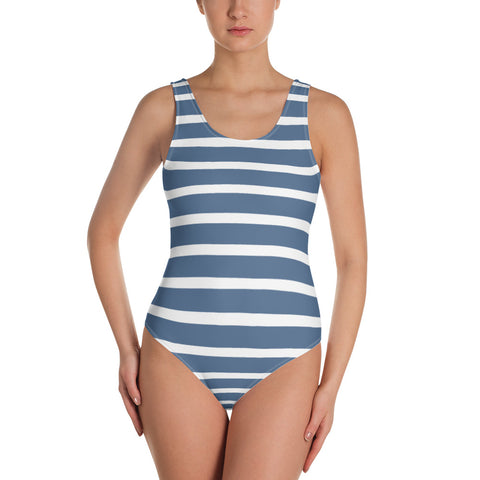 Sailor - Blue & White One-Piece Swimsuit