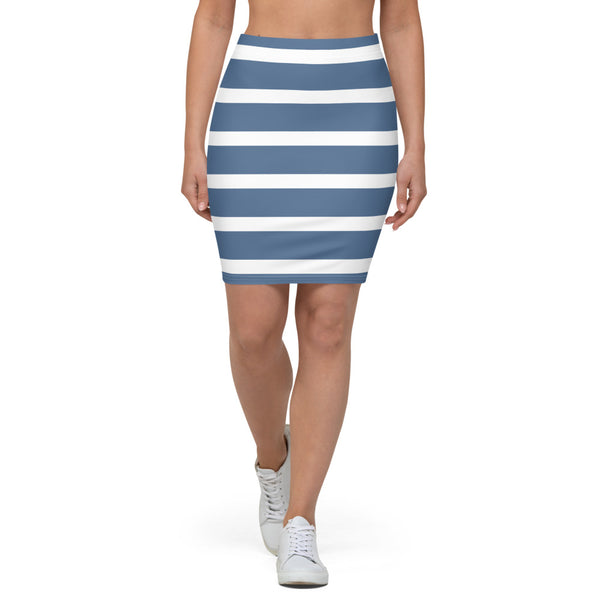 Sailor - Blue & White Pencil Skirt