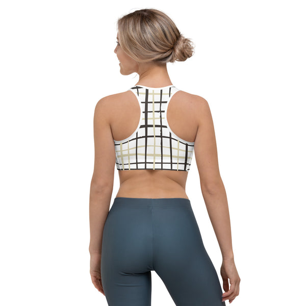 Nottingham - Brown Checkered Sport's Bra