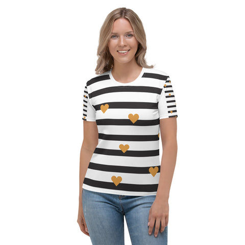 Paris - Black & White Stripes T-shirt