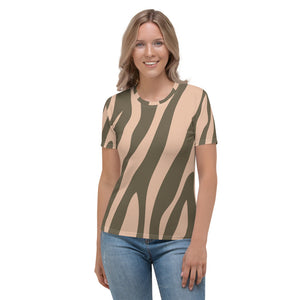 Botswana - Zebra Print Short Sleeves Women's T-shirt