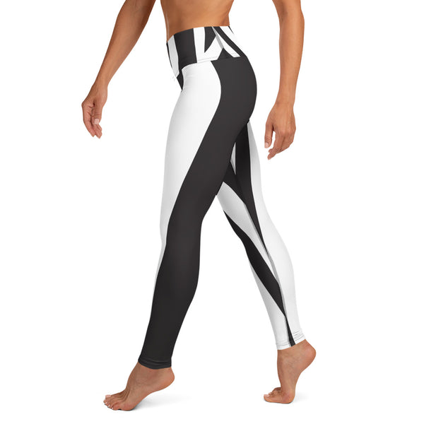 Kenya - Black And White Zebra Print Leggings