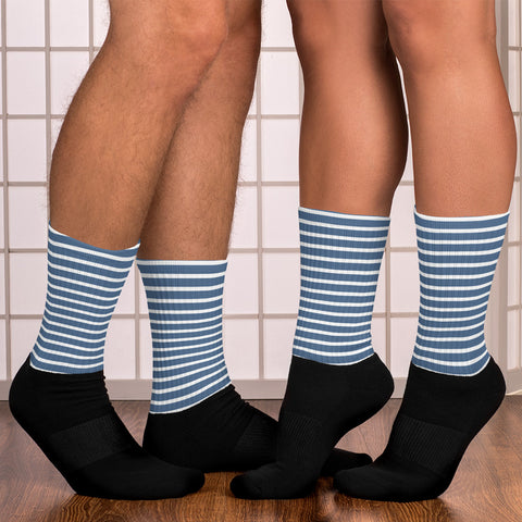 Sailor - White & Blue Stripes Socks