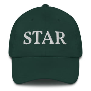 STAR - Green Statement Quote Baseball Cap