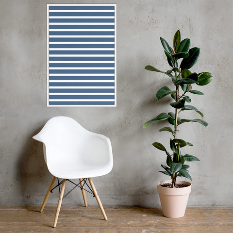 Sailor - White & Blue Framed poster