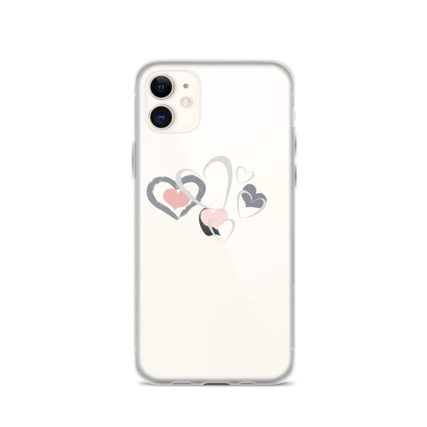 Hearts Valentine Love Print - iPhone Case