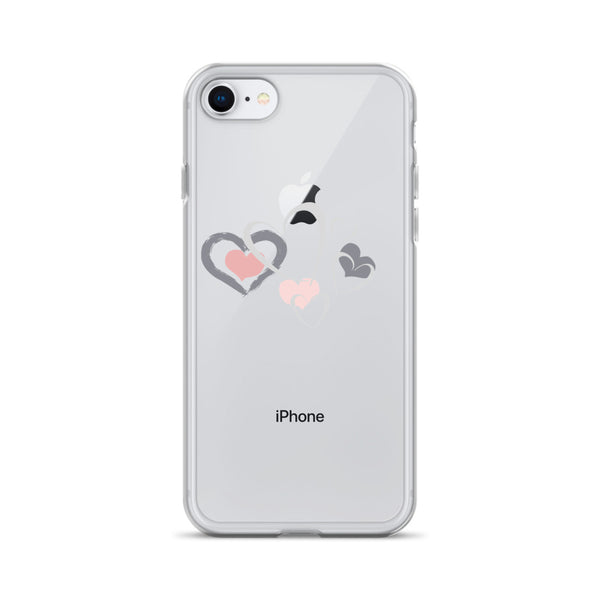 Hearts And Hearts And Hearts - iPhone Case - Izzabel