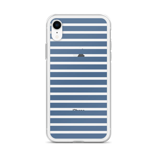 Blue & White Stripes iPhone Case