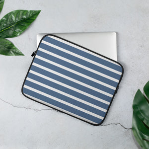 Sailor - Blue & White Stripes Laptop Sleeve