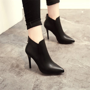 Alice - Pointed Ankle Bootie - Izzabel