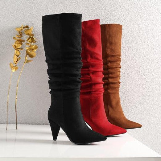 Pattie - Slouch Draped Boots - Izzabel