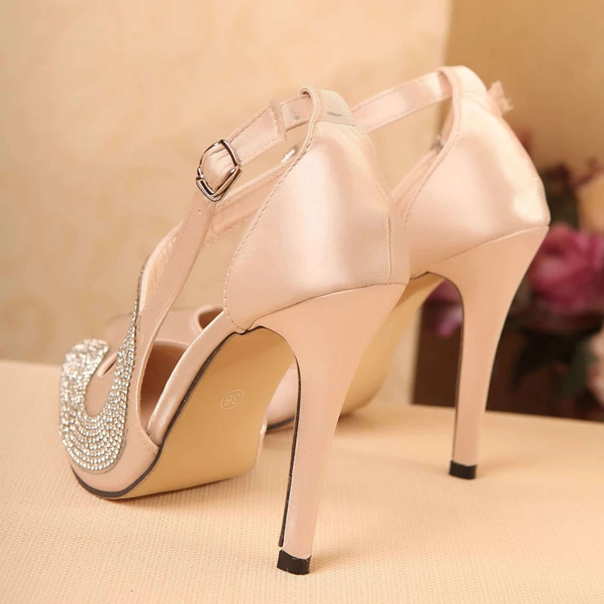 Doris - Rhinestone High Heel - Izzabel