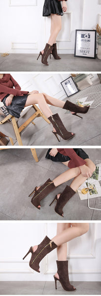 Daisy - Open Toe Ankle Boot - Izzabel