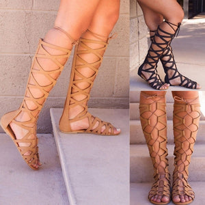 Ardath - Gladiator Lace Up Boot - Izzabel
