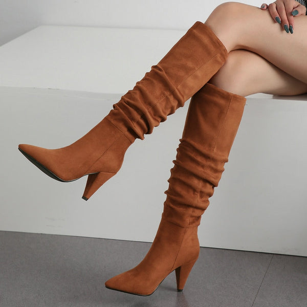 Marisa - Slouch Draped Boots - Izzabel