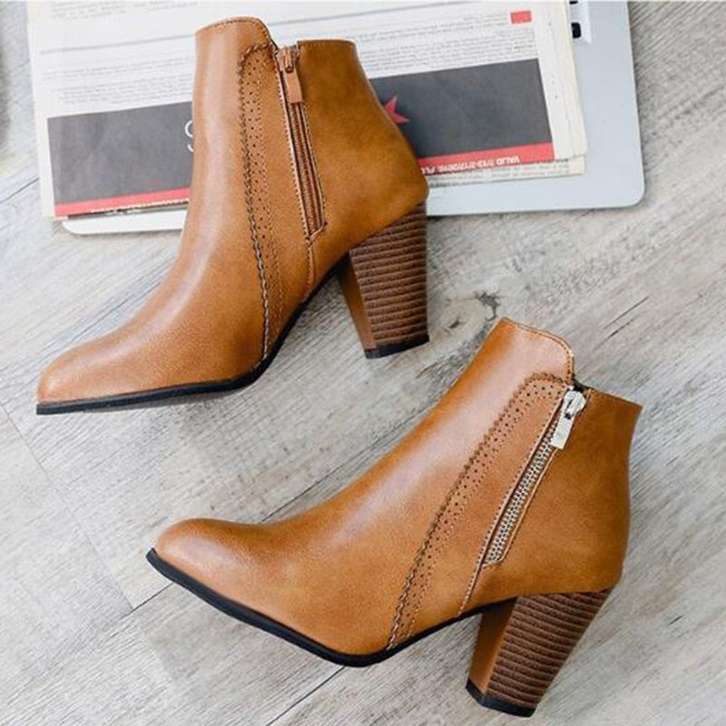 Ruby - Retro Women Ankle Boots