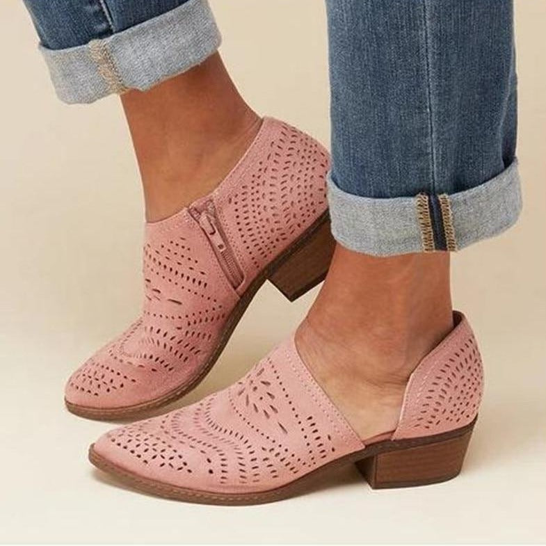 Erin -  Side Slit Ankle Bootie