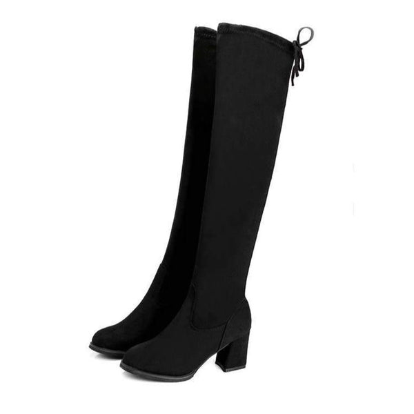 Bradley - Faux Suede Over The Knee Boot - Izzabel