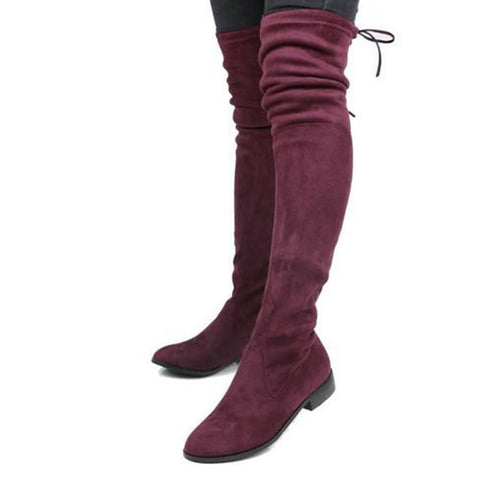 Lucy - Over The Knee Platform Boot - Izzabel