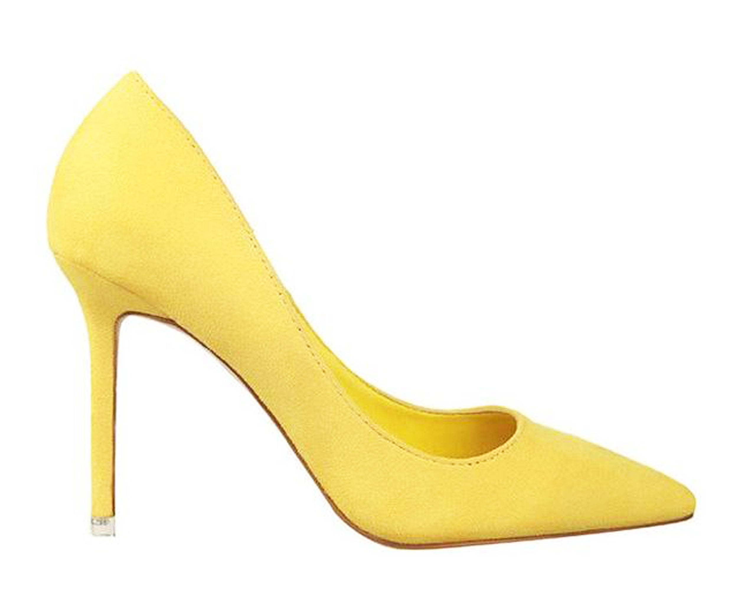 yellow high heels pumps