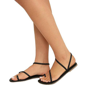 Elena - Elegant Slip On Toe Sandal - Izzabel
