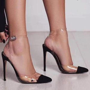 Kimmi Transparent High Heeled Pumps