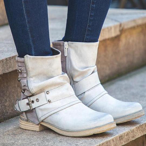 Lala Heel Straps Buckled Boot