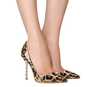 Leopard pattern high heels
