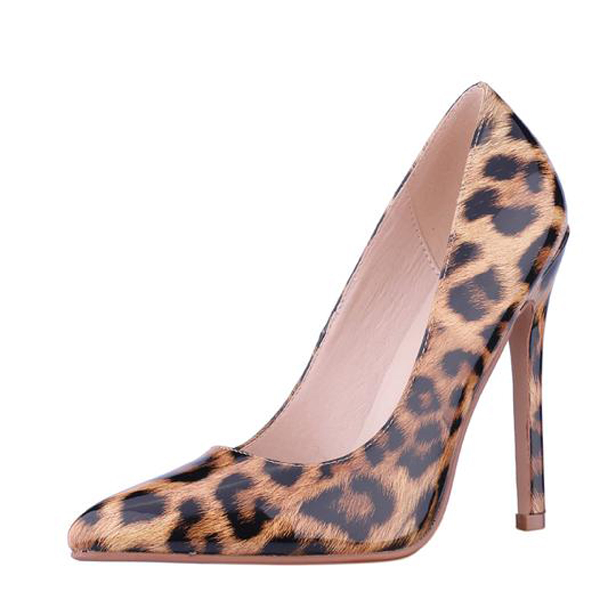 Tiger print stiletto heels